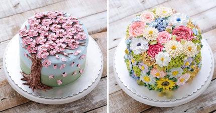 15個「長出花朵的蛋糕」女孩婚禮必備 還有多肉植物款❤