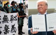 川普宣布簽「香港自治法」取消「香港優惠待遇」:都是中國害的
