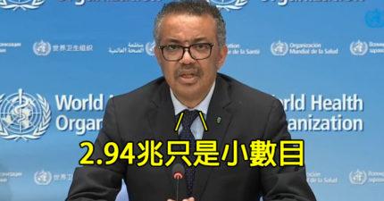 全球確診達2千萬人!世衛呼籲「全球快捐錢」:要研發疫苗救命