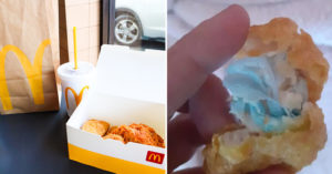 麥當勞雞塊「藏著口罩」差點害女兒噎死 大媽暴怒:店家還繼續賣!