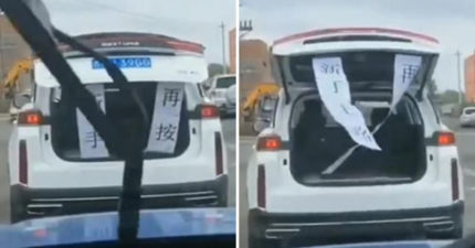 別惹新手!他車速慢「被後方按喇叭」 用「8字對聯」讓對方滾開