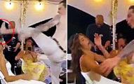 婚禮橋段「新郎迴旋踢」正對老婆臉...岳母第一反應太真實!