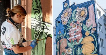讓「空氣變乾淨」的環保壁畫 一面牆=「780棵樹」淨化效果
