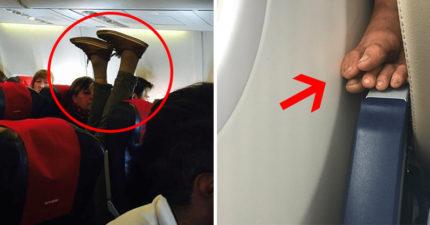25個把你搞瘋的「飛機奇葩乘客」 後面伸腳過來還不是最慘的
