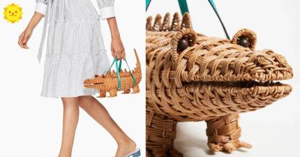 時尚好難懂?大牌推出「鱷魚一手拿」可愛包包 打開後發現很實用