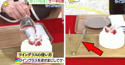 日本終於發現「最正確切蛋糕法」 杯子、烤肉夾切出「完美比例」不用搶!