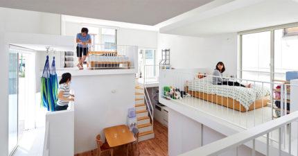 22坪小屋「內有3陽台」!設計師打造「極限室內空間」:睡在空中
