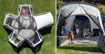 露營神器「5房一廳帳篷」!不用分帳「可睡20人」比公寓還舒適