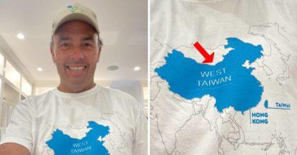 華爾街金融大亨挺台灣 「中國是西台灣」穿梗圖T嗆爆中國大使